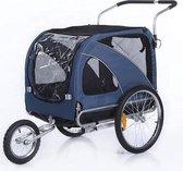 Top Travel Hondenfietskar - Fietskar +Gratis  JOGGER functie- Large - Blauw