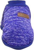 Hondentrui - Kattentrui - Hondenkleding maat S - 20cm - Blauw/Paars