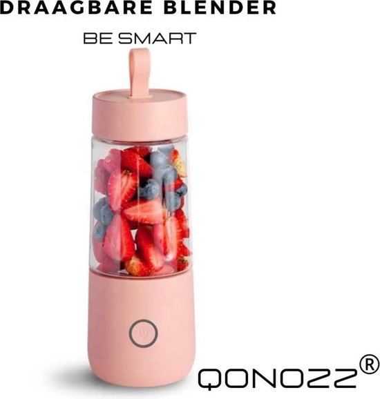 Draagbare Smoothie Blender - Blender to go - Draagbare blender - Portable blender - Qonozz - Blend it raw