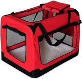 Rexa ® Opvouwbare hondentas voor transport | (M) 60x42x44 cm Rood | Inclusief schouderriem | Honden reistas | Dieren transporttas