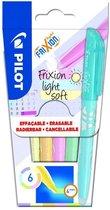 Pilot Frixion Light Soft - Markeerstiften – Doosje van 6 stuks - Pastelkleuren