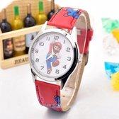 Mario horloge - rood - jump - kinderklok - kinderhorloge - leerklok