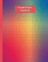 Graph Paper Notebook With Matte Multicolor Cover