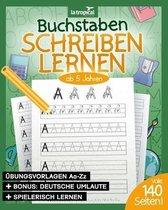 Buchstaben schreiben lernen ab 5 Jahren: Mein ABC - Übungsheft für Kinder mit tollen Druckschriftvorlagen zum Üben und Lernen für Mädchen und Jungen i