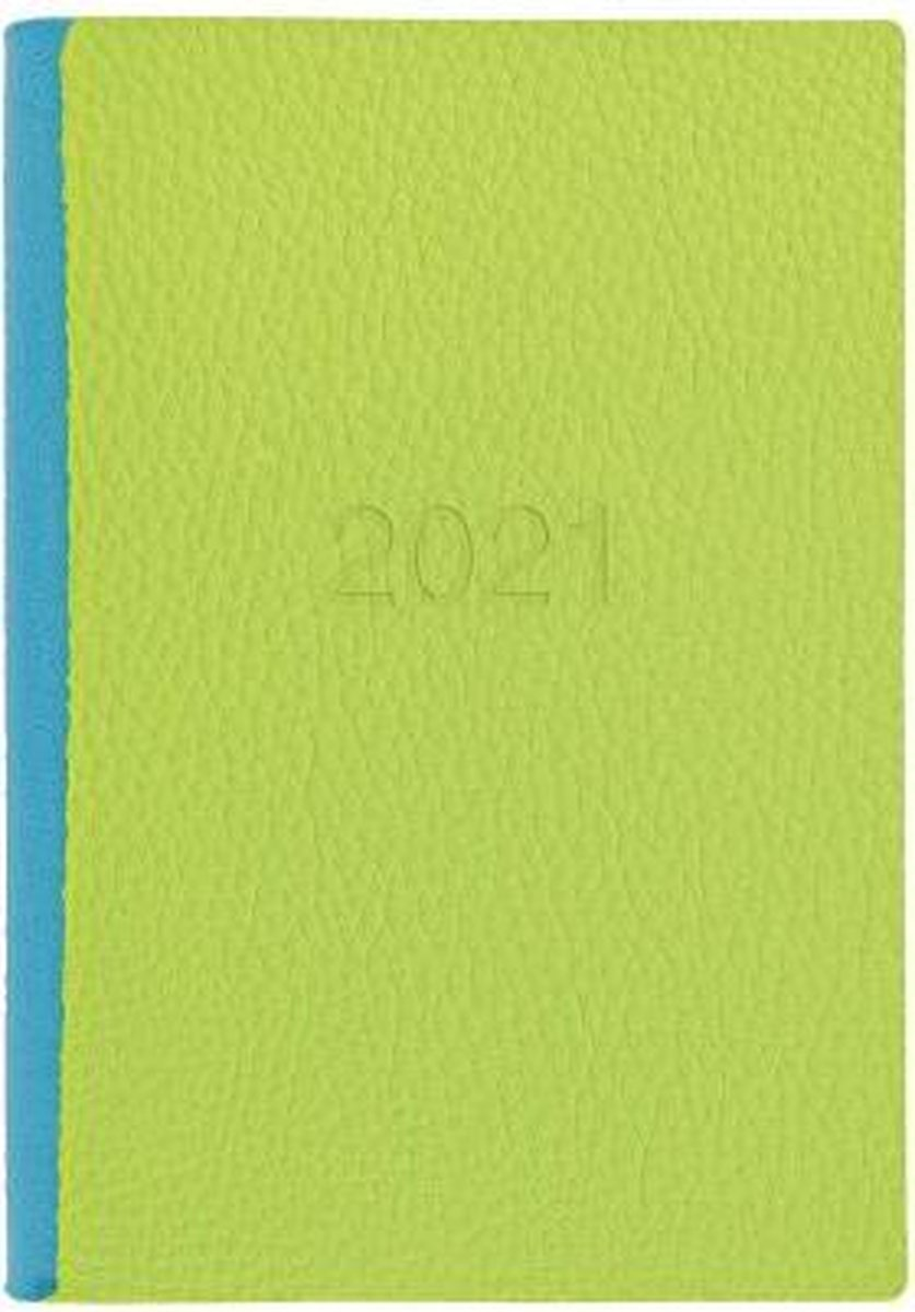 Letts of London Two Tone A5 2021 week to view agenda Pear / Aqua