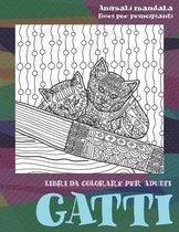 Libri da colorare per adulti - Fiori per principianti - Animali Mandala - Gatti