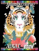 Animals coloring adult book
