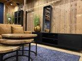 Tv kast staal Joris - 2x deur - 2x vak - 220x50x53 cm - zwart