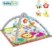 BabyJem - Dieren Speelboog Met Speelmat - Speeltrapezium Voor Baby's - ⌀ 85cm – 72cm x 72cm - 1,1kg