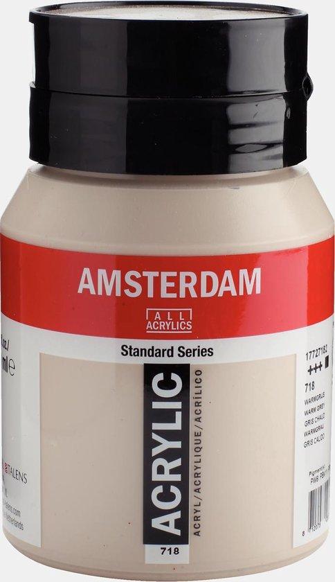 Amsterdam Standard Acrylverf 500ml 718 Warmgrijs