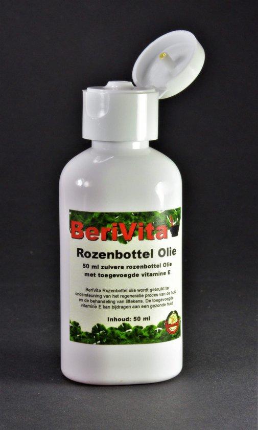 Rozenbottelolie Puur 50ml - Huidolie en Gezichtsolie van Rozenbottel Zaden - Rosehip Oil