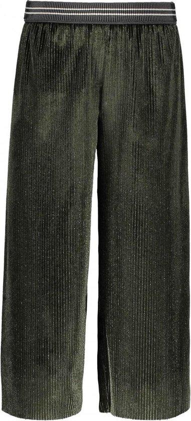 Like Flo Meisjes lange broeken Like Flo Flo girls lurex striped velvet quilo groen 110