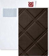1 PROEFMONSTER S-15037 WallFace ROMBO 85 MOCCA Leather Collection | Muur paneel STAAL in ongeveer A4-formaat