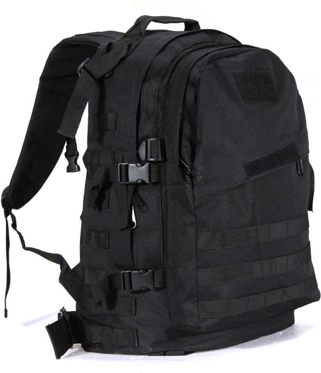 Backpack - Militair Tactisch - Zwart - Wandelrugzak - Rugtas - Rugzak - 55 Liter