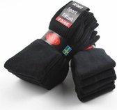 Sport sokken 10 pak zwart 39-42