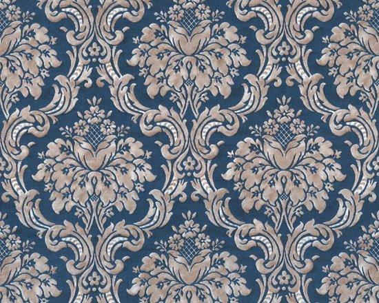Bol Com Barok Ornamenten Behang Beige Blauw Goud Metallic As Creation Paradise Garden