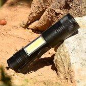 XANES 3504 XPE-Q5 + COB 600Lumen Mini LED zaklamp Noodinspectie werklamp AA / 14500