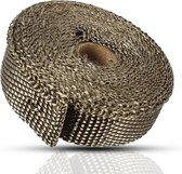 4.5mx 25mm Titanium Header Uitlaat Heat Wrap Tape bescherming met rvs zip-banden