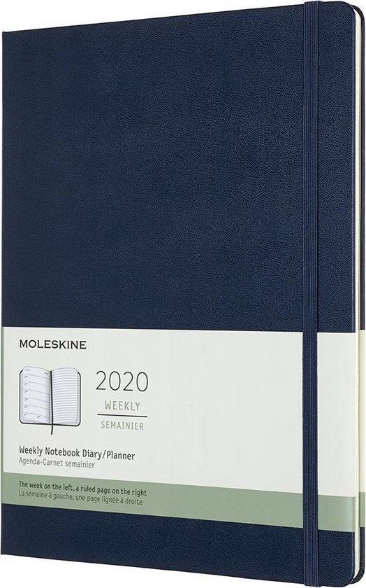 Afbeelding van Moleskine Agenda - 12 Maanden - Wekelijks - XL (19x25cm) (19x25cm) - Donkerblauw - Harde Kaft