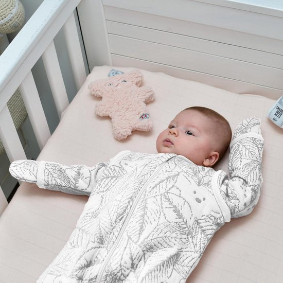Lodger Baby slaapzak - Hopper Botanimal - Ivoor - Lange mouw - 50/62