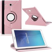 Samsung Galaxy Tab E 9.6 Inch SM - T560 / T561 Hoes Cover 360 graden draaibare Case licht roze