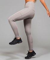 Marrald High Waist Pocket Sportlegging | Licht Grijs - M dames yoga fitness