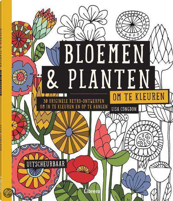 Bloemen & planten om te kleuren - Lisa Congdon  