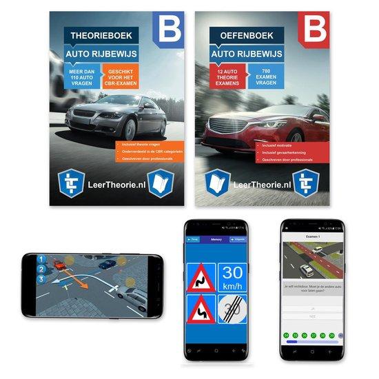 AutoTheorieboek + Oefenboek 2021 - Auto Rijbewijs B - Theorie examens leren en oefenen