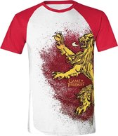 Game of Thrones - Painted Lannister Raglan T-Shirt - Wit - XL
