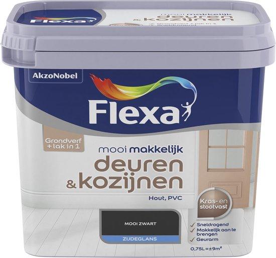 Flexa Mooi Makkelijk - Deuren en Kozijnen - Mooi Zwart - 750 ml