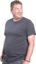 3XL 2pack T-shirt heren ronde hals grijs | Buikmaat 3XL-B | grote maten tshirt | XXXL