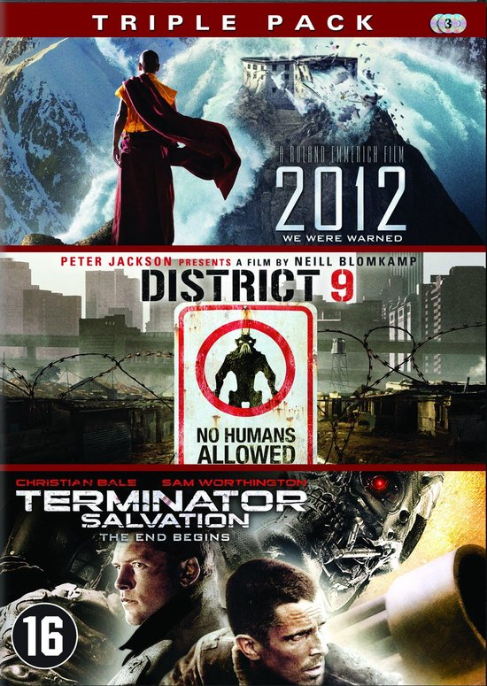 Cover van de film '2012 / District 9 / Terminator 4 - Salvation'