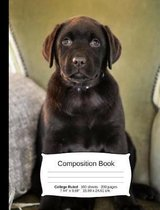 Chocolate Lab Composition Notebook