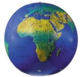 27 Dark Blue Topographical Inflatable Globe