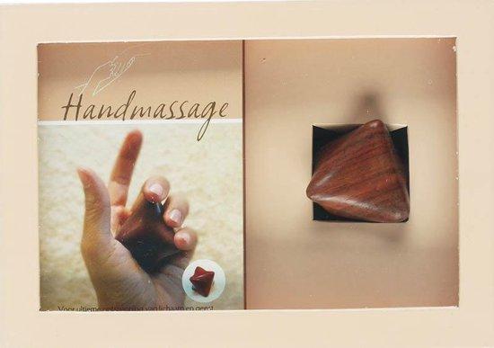 Handmassage boek en houten massagester - nvt |