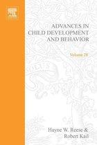 Omslag Advances in Child Development and Behavior