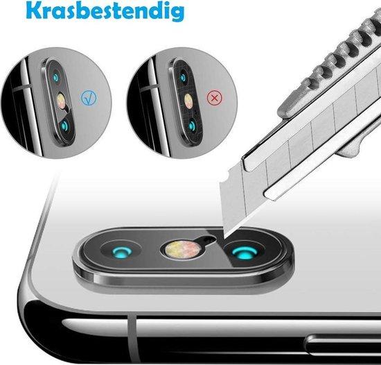 DrPhone - iPhone XS MAX Camera Lens Protector - 0.2mm 9H - 2.15D Arc Edge Tempered Glass Gehard Glas Glazen Harde