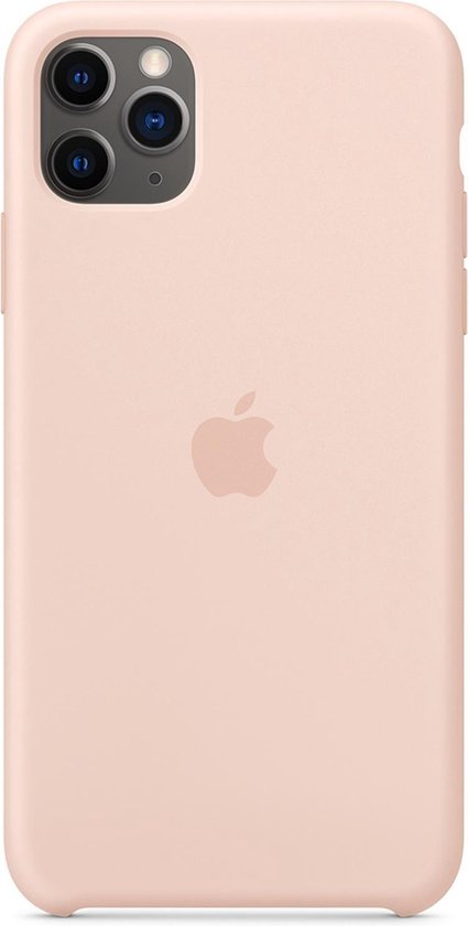 Apple Silicone Backcover iPhone 11 Pro Max hoesje - Pink Sand