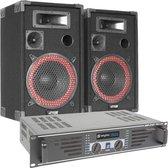 Complete DJ PA set van SkyTec 500W