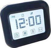Keuken timer digitale wekker groot LCD-aanraakscherm worden geleverd met nachtlampje voor het bakken van koken (zwart)