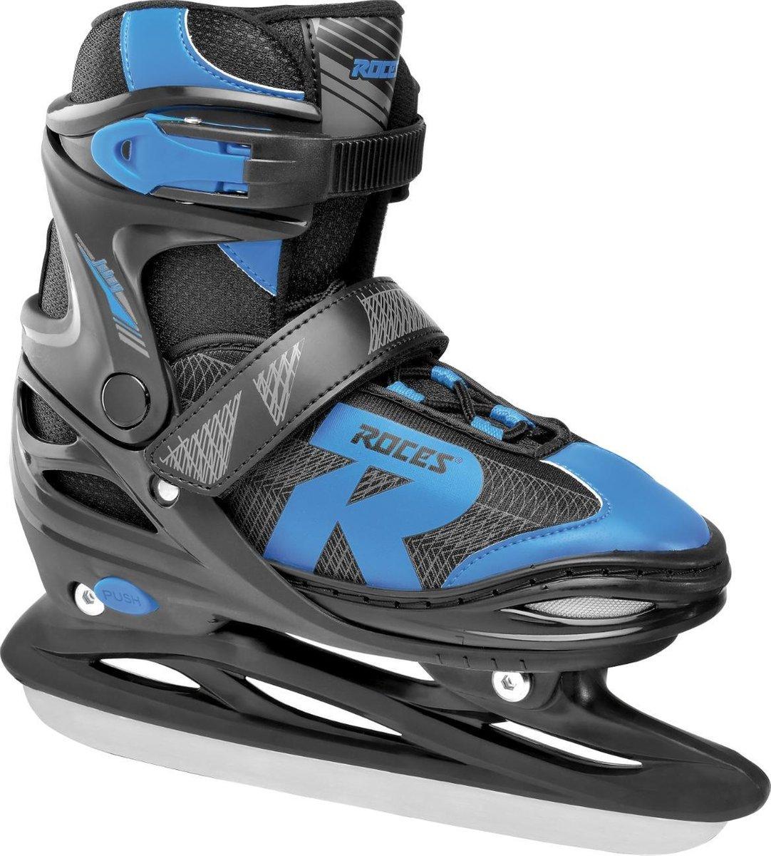 ROCES IJshockeyschaatsen verstelbaar JOKEY ICE 2.0 BOY Zwart/Blauw 34-37
