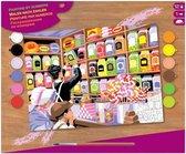 Schilderen op nummer - Sequin Art • Senior painting by numbers sweet shoppe