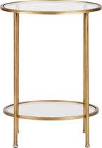 BePureHome Goddess Bijzettafel - Metaal - Antique Brass - 61x45,5x45,5