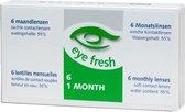 Eye Fresh zachte maandlenzen -4.00 - 6 stuks - Contactlenzen
