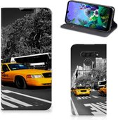 LG Q60 Book Cover New York Taxi
