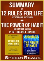 Omslag Summary of 12 Rules for Life: An Antidote to Chaos by Jordan B. Peterson + Summary of The Power of Habit by Charles Duhigg 2-in-1 Boxset Bundle