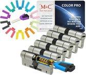 M&C Color PRO set van 6 cilinders 32/32 en 8 sleutels SKG3