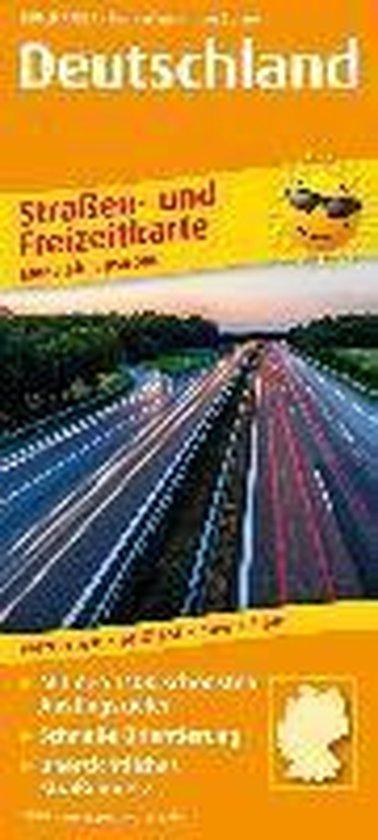 Deutschland. Straßen- und Freizeitkarte 1 : 850 000