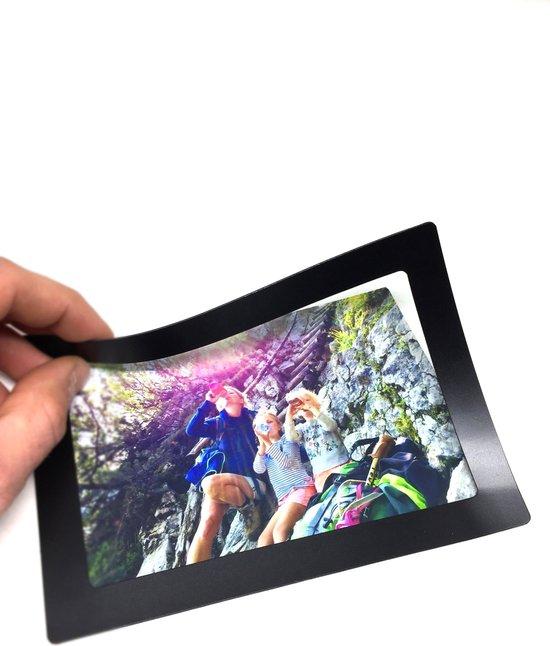 Magnetische fotolijst - foto 10x15 cm - zwart - 10 stuks