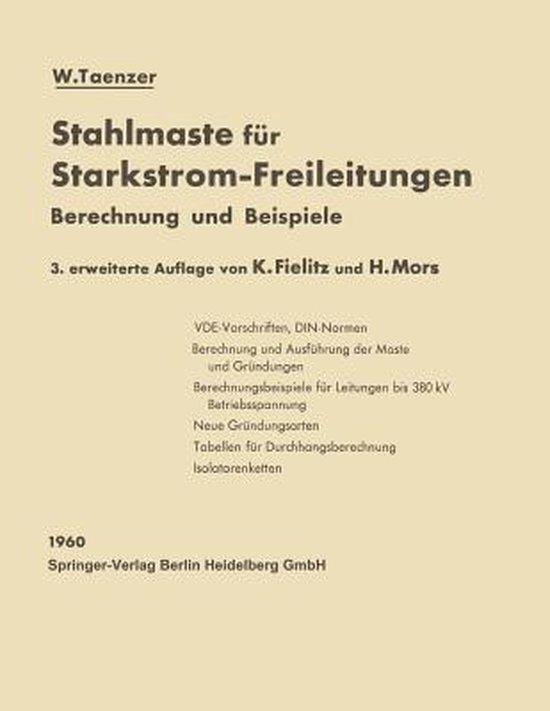 Stahlmaste Fur Starkstrom-Freileitungen